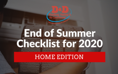 End of Summer Checklist for 2020: Home Edition